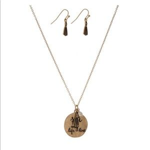 Jewelry - Sea is My Lifeline Necklace and Earrings Set NWT
